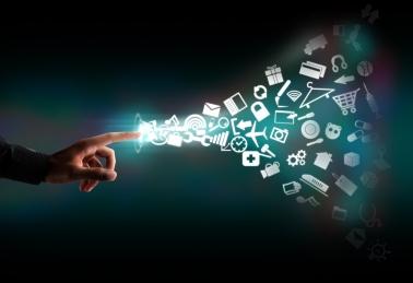 Modern communication technology concept